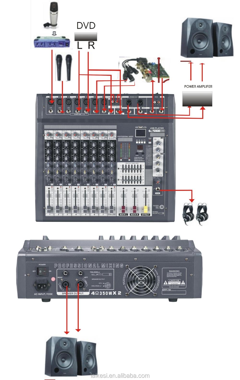 mx806d usb 8 channel mixeramplifier audio mixer 300w view audio mixer laikesi product details. Black Bedroom Furniture Sets. Home Design Ideas