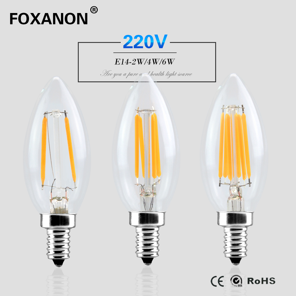 Buy foxanon e14 dimmable led light 220v for Lampada led e14