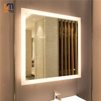 Best-selling Frameless Custom Luxury Decorative Wall Makeup Bathroom Mirror Light LED