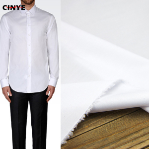 Free sample super soft men's shirt fabric plain white cotton fabric