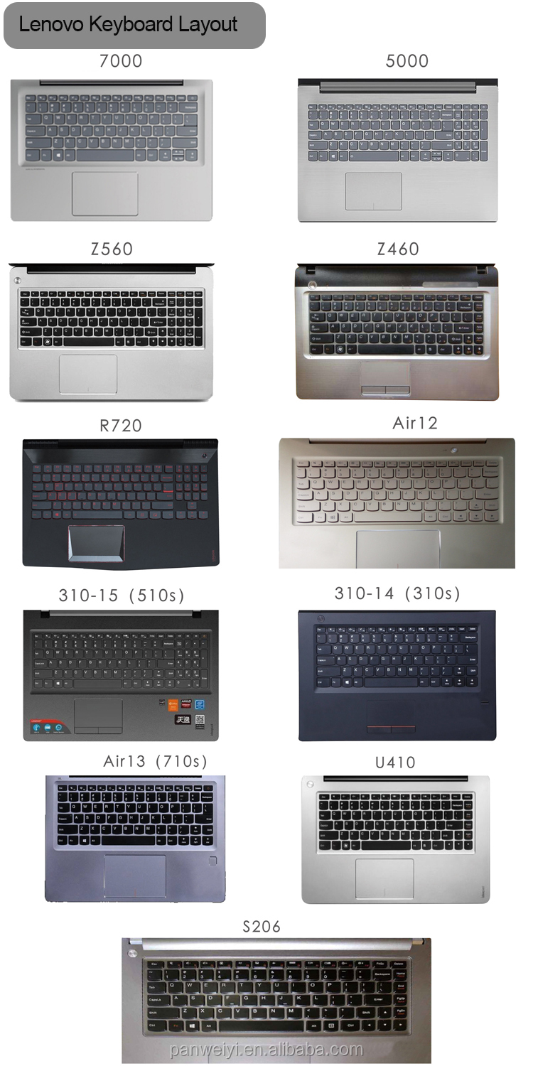 "Waterproof Custom Silicone Laptop Keyboard Protector Skin Cover for Lenovo Ideapad 510S-15, V110 15.6"", Ideapad 110 15.6"""