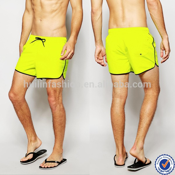 48ae0140dc 100% nylon mens swim shorts drawstring waistband mesh lining plain burgundy  board shorts