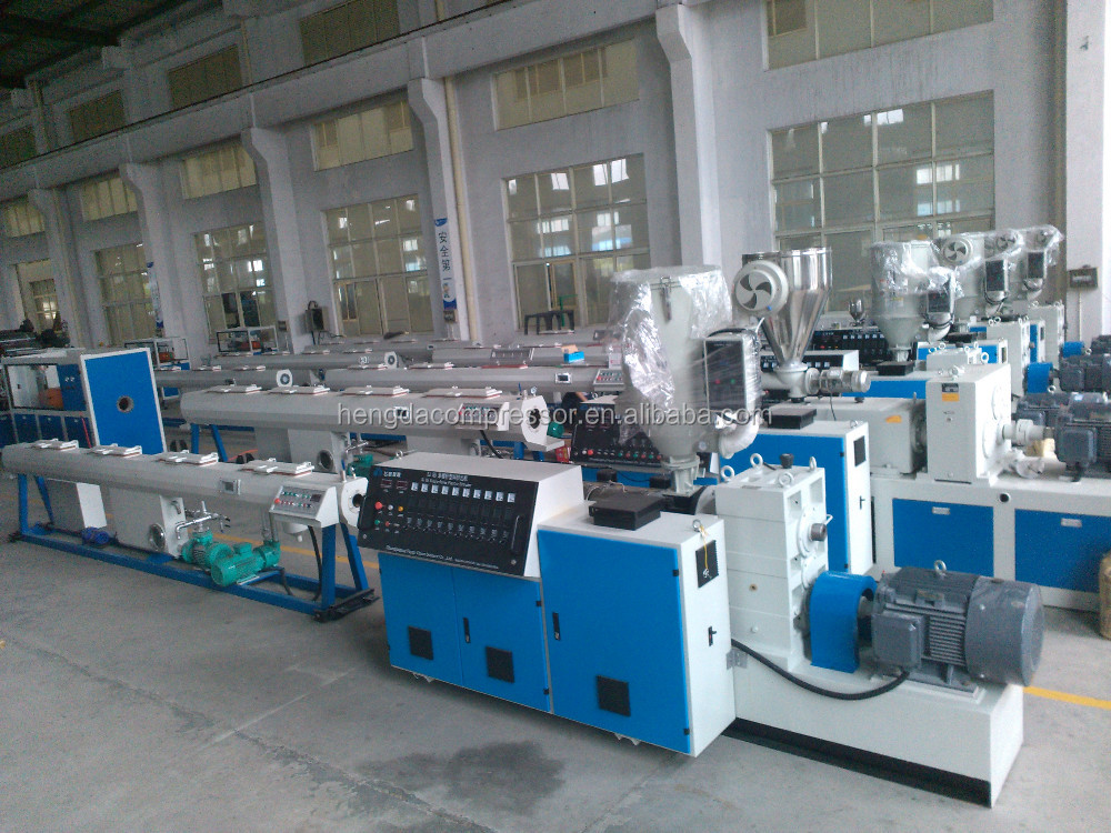 Single screw plastic PE water supply plastic corrugated pipe machine