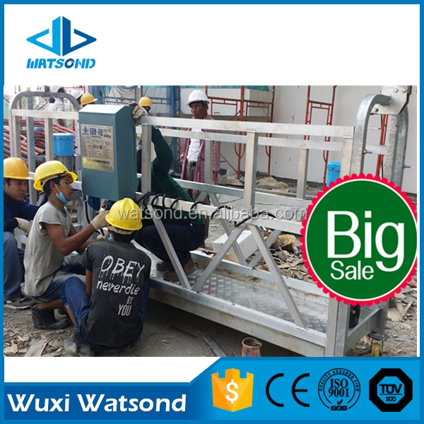WATSOND factory directly supply for Southeast Asia zlp630 aluminum alloy electric suspended working platform