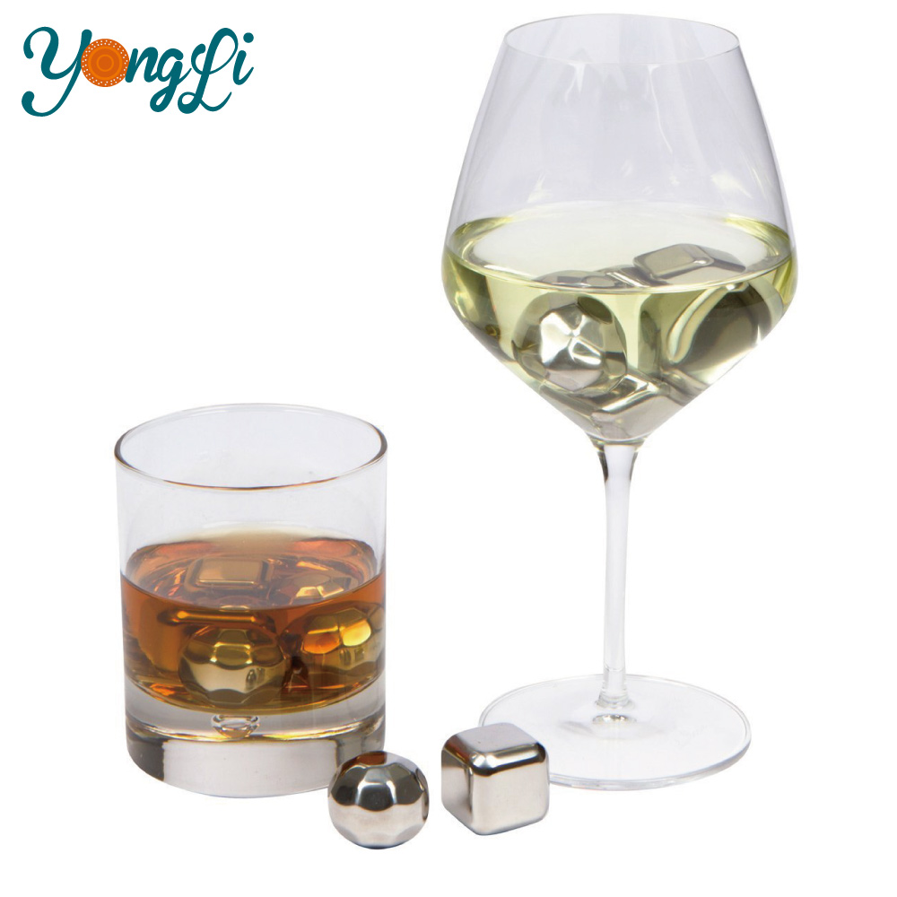 Reusable Chilling Stones Coolers for Whiskey Wine Beer Beverage Stainless Steel Ice Cube