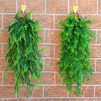 Factory Whole Outdoor Decor Artificial Plastic Green Hanging Ivy Leaves Vines