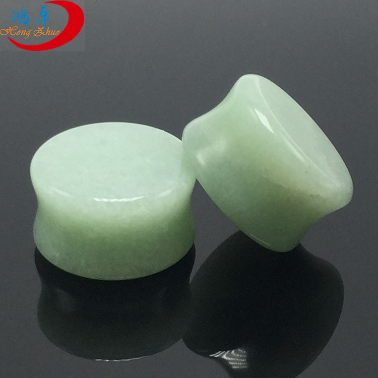 Custom Nature Stone Ear Gauges Stretchers Kits Plugs Double Flared Saddle Plugs for Ear Piercing