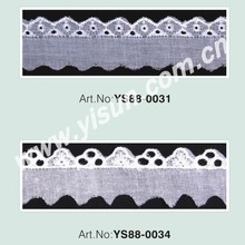 "2"" cotton lace fabric"
