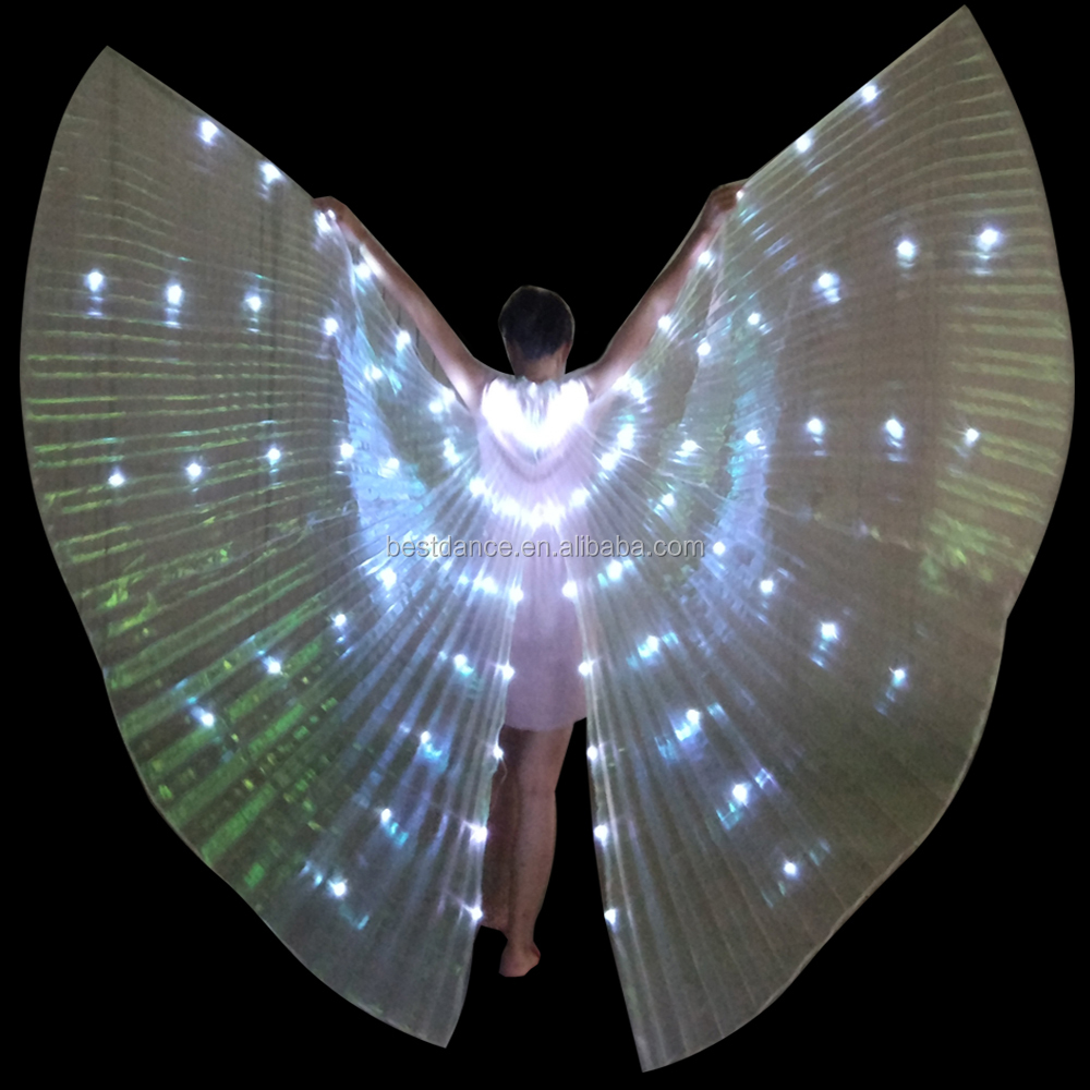 BestDance Hot Sale LED Isis Wings Programmeerbare Butterfly Belly Dance Wings voor het dansen van OEM