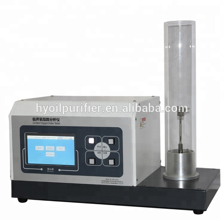 Astm d2863 automatic lol limiting oxygen index chamber for.