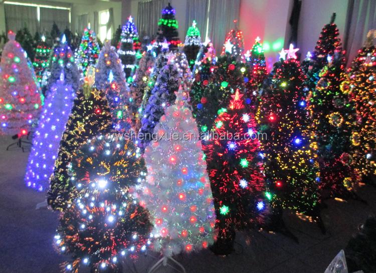 Hot Sell Fiber Optic Led Lights Gold Angel Christmas Tree
