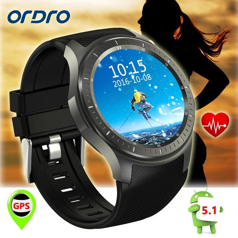 Ordro SW58 Smart Android 5.1 3G GSM Watch Phone WiFi GPS Heart Rater Monitor <strong>HOT</strong>