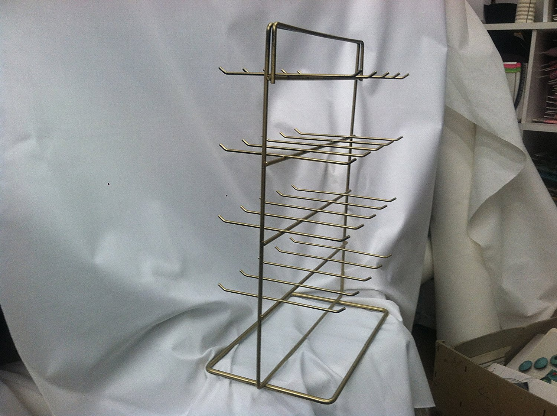 40 Hook Gold Jewlery Rack Organizer 2 Sided