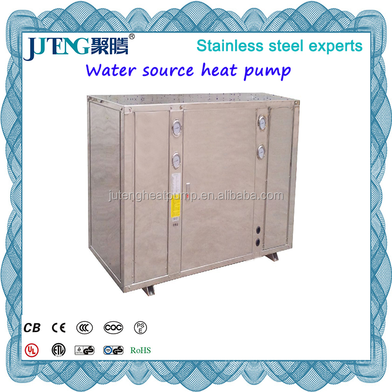 Geothermal Water source 77kW Heat Pump Water to water for heat and chill Juteng Mnaufacturer with High COP, EER