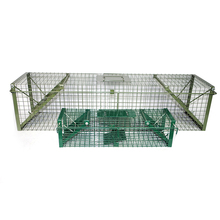 Humane live multi fangen draht mesh metall maus <span class=keywords><strong>ratte</strong></span> tier falle käfig Grün PVC Live Badger Käfig Falle