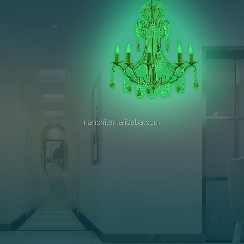 Uberlegen Kreative DIY Kronleuchter Dekor Hause Glow In The Dark Wandaufkleber Tapete  Für Schlafzimmer Wohnzimmer Dekoration