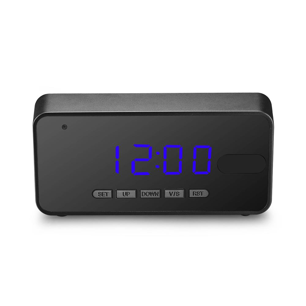 1080P Full HD VGA Motion Detection Night Vision PIR Digital Desk Alarm Clock Camera