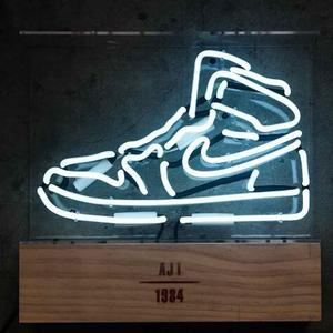 factory made cheap price custom neon sports sneaker shoe sign for sale