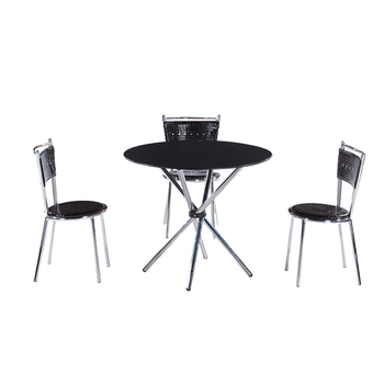 Cool Modern Delicate Black Glass Dining Table And Pu Leather Dining Chairs With Stainless Legs Indoor Home Furniture Table Set Buy Stainless Steel Dining Caraccident5 Cool Chair Designs And Ideas Caraccident5Info