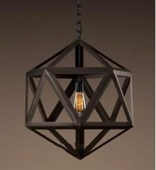 6.3-2 New Wrought Iron Lantern Pendant Light Fiture Vintage Iron ...