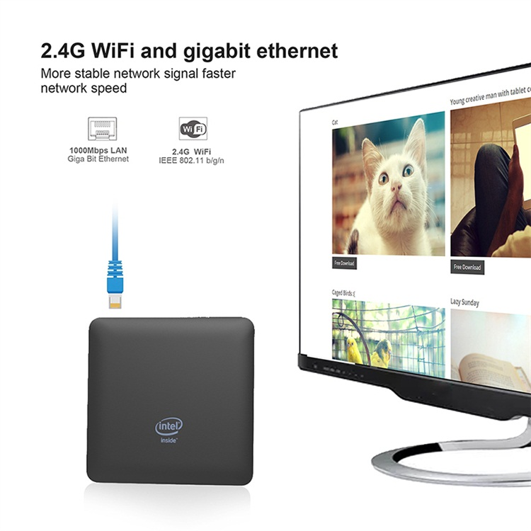 Multifunctional Competitive Price T7II More stable network signal Intel Atom Z8350 hd  mini pc 4k 60fps