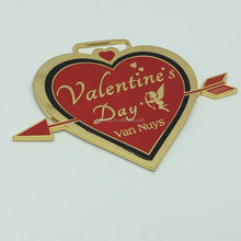 Wholesale Heart shape 3D medals for the souvenirs medals for Valentines day medals