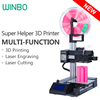 Cheap 3D Printer Multi-function (3 in 1)3D Printing+Laser Engraving+Laser Cutting ,Winbo High-accuracy mini 3D Printer SH105L