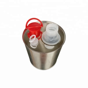 1000ml custom cylindrical engine oil or lubricant tinplate container with plastic cap