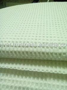 Waffle Fabrics white and dyed
