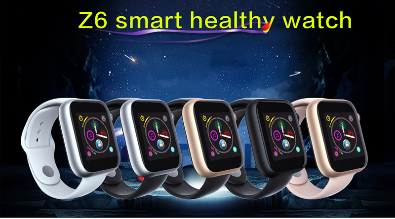 2019 Fitness Intelligent Sim Card Phone Watch Metal Frame Z6 Smart Watch