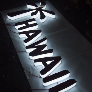 Thermoformed Large plastic letters/ LED backlit advertising letters sign