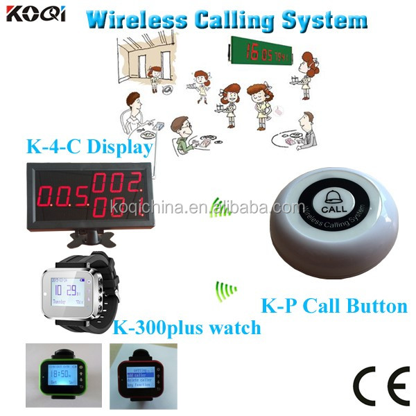 Wireless Paging Communication System For Restaurant K-4-C+K-300plus+K-P With CE Approved
