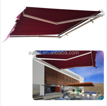 Manual 8.2u0027*6.6u0027 Retractable Patio Deck Awning Outdoor Sun Shade Canopy  Shelter,