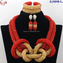 CJ1015-1 multicolor African Nigeria fashion Gorgeous elegant beads jewelry sets for women wedding/evening party