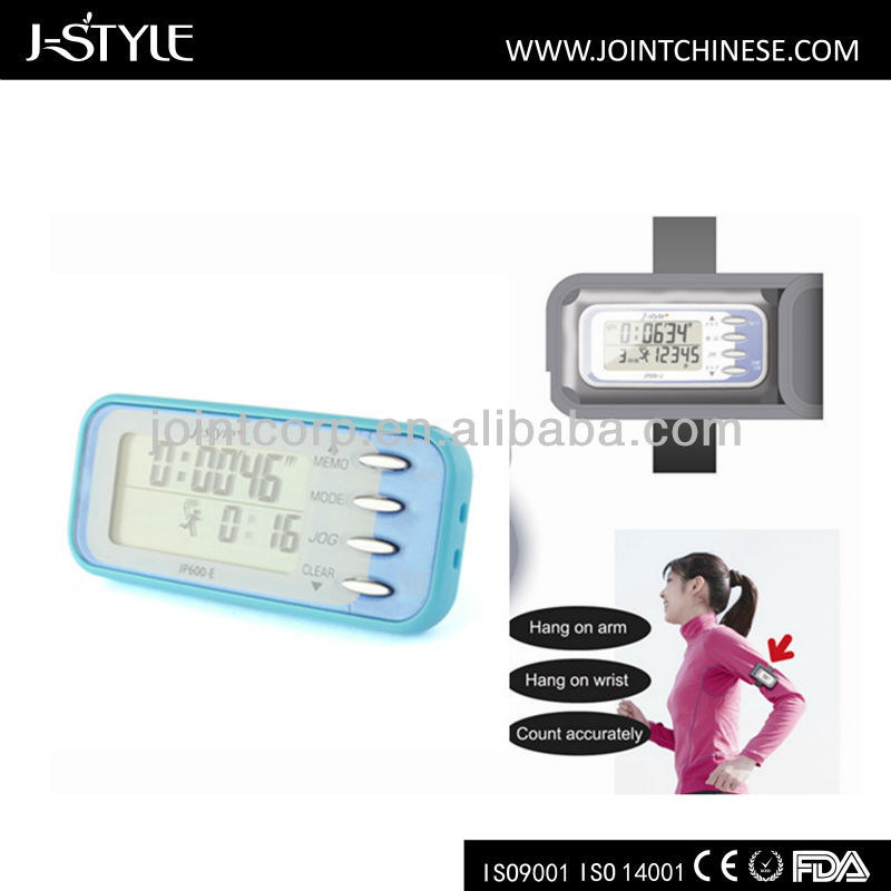 Hot J-Style Multifunction 30 days memory Jog Calories Meter Step Counter manual for ce pedometer