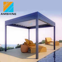 Adjustable outdoor sun shade cover patio louver roof pergola aluminum