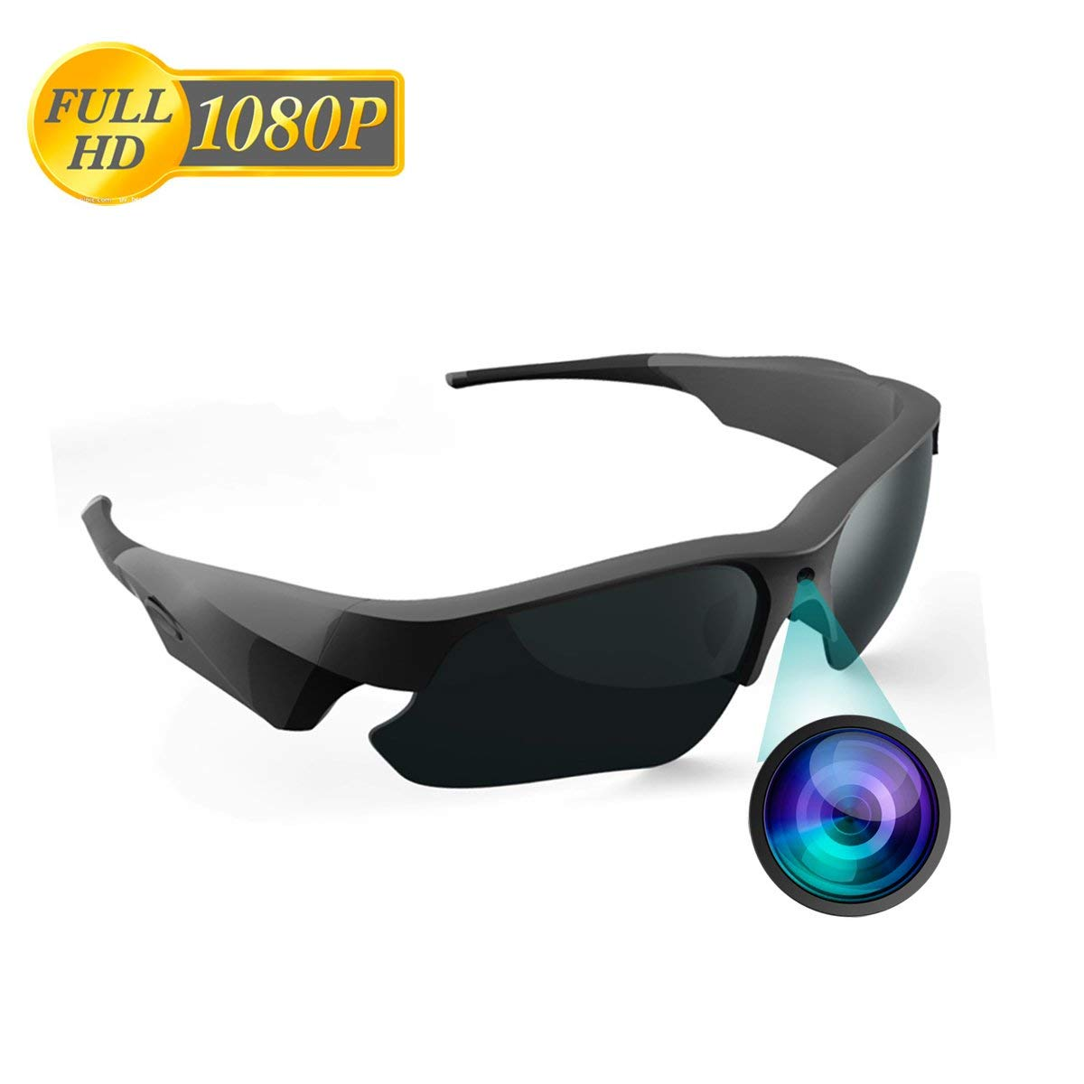 4541f8d4fa06 Get Quotations · CAMXSW Sunglasses Camera Full HD 1080P Video Recorder  Camera with UV Protection Polarized Lens for Outdoor