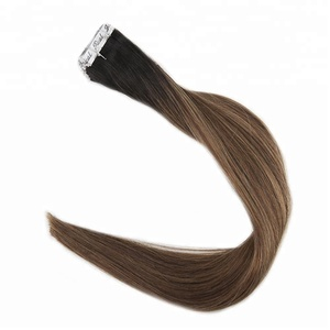 high quality remy virgin double sided drawn curly tape hair extensions