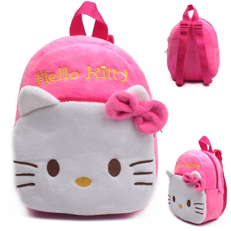 New cute kids school bag cartoon mini plush backpack for kindergarten boy  girl baby Children s gift student lovely schoolbag