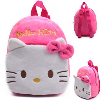 09a4785988 New cute kids school bag cartoon mini plush backpack for kindergarten boy  girl baby Children s gift