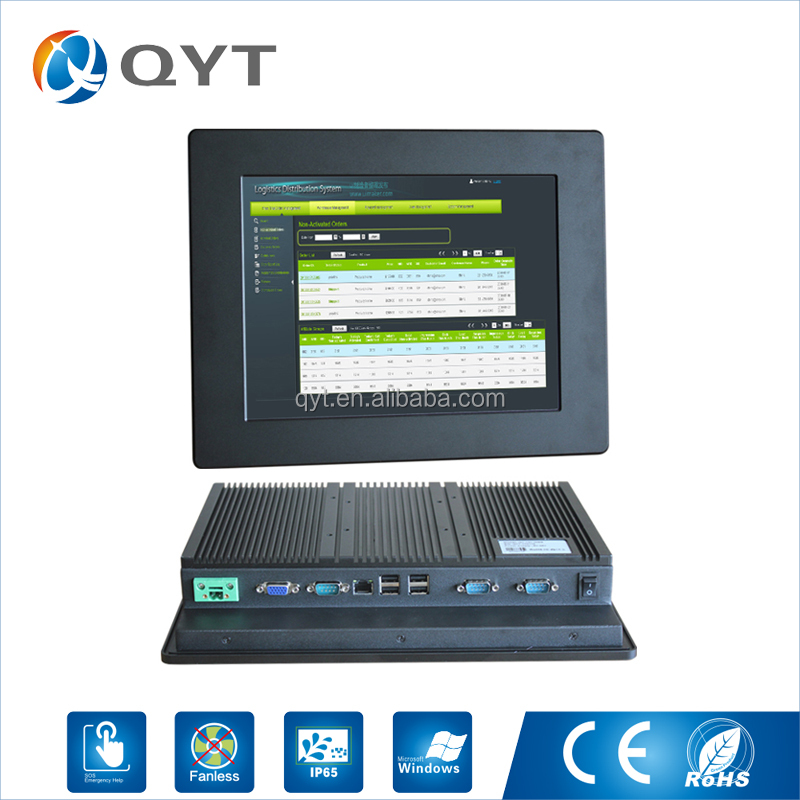 Top Selling resolution 800*600 12 inch lcd mini linux embedded industrial pc