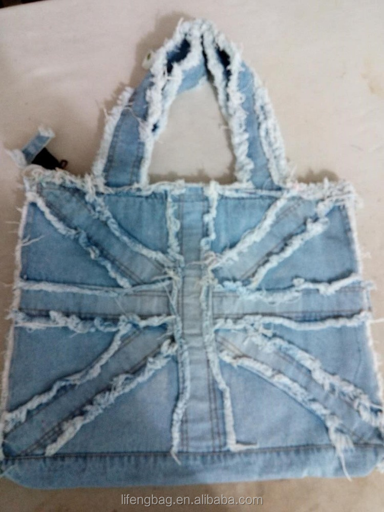 2017 Fasion denim tote bag en gros