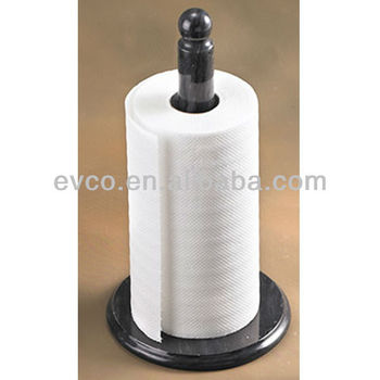 Genuine Black Marble Upright Paper Towel Holder