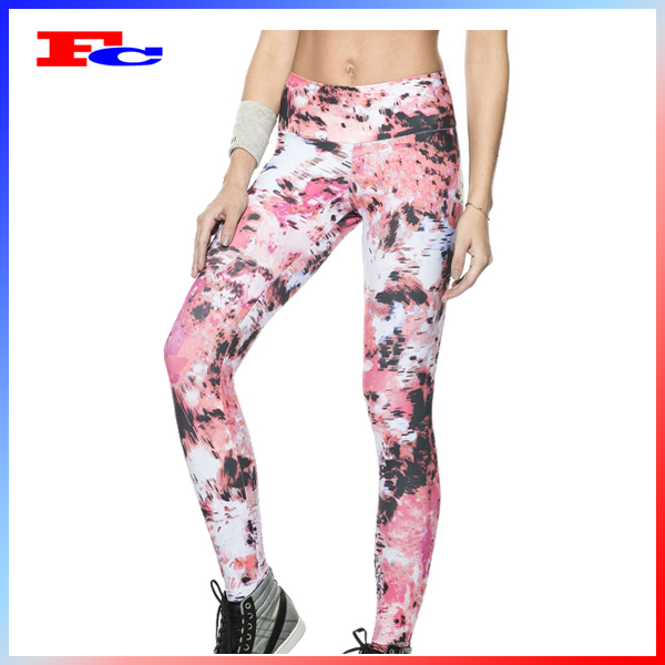 Trade assurance good quality women high waist sports yoga pants compression gym clothing