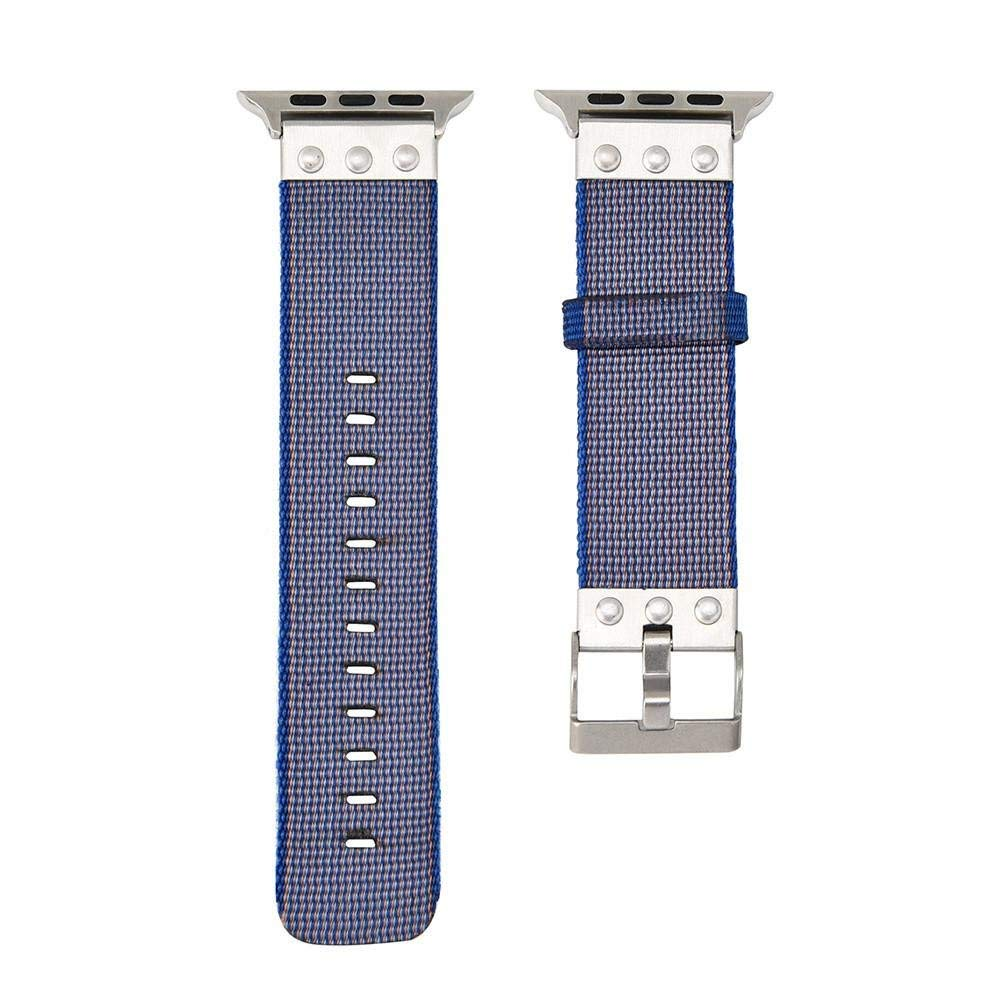 For Apple Watch Series 1/2/3 38MM ,[Canvas Watch Band] --Quick Release Replacement Classic Wrist Band Watch Band Fashion Sports Bracelet Strap Women And Men (Purple)