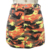 Custom Ladies mini pocket  skirt camo print button skirt