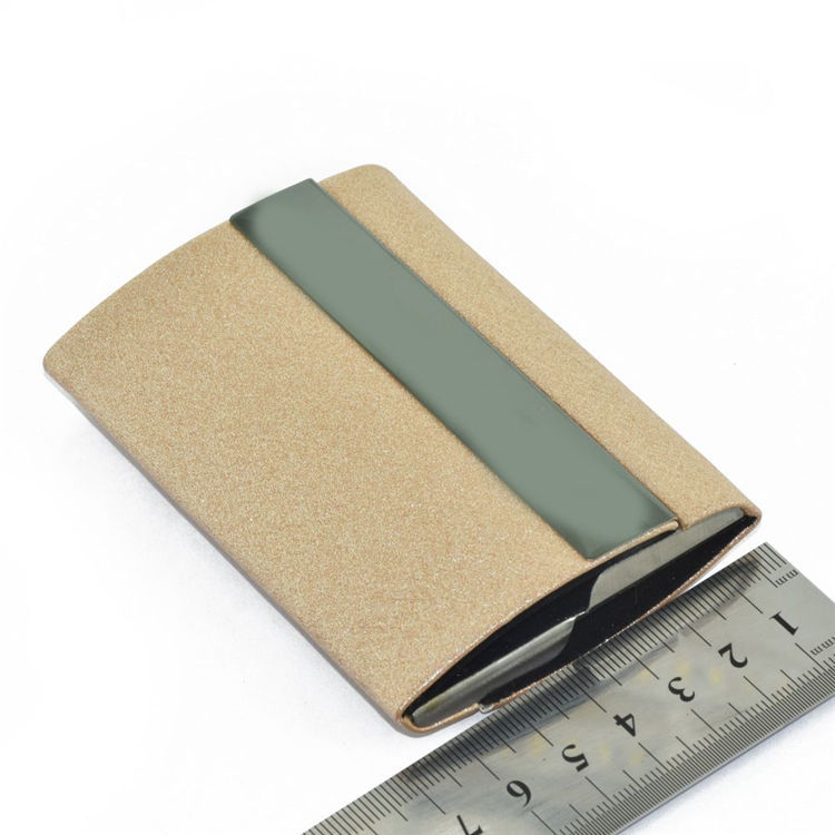 Newest style luxury double sides leather card holder for business wholesale