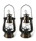 Dimmable Battery Operated Retro Oil Lamps LED Hurricane Lamps