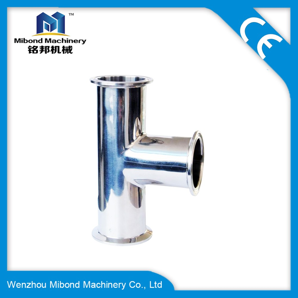 Stainless Steel SS 304/ 316L Sanitary Tee Tri Clamp Ferrule Ended Manufacturer