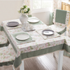 Hot sale jacquard round table cloth for home